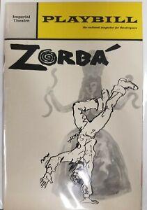 1969 Playbill Zorba Herschel Bernardi Maria Karnilova Imperial Theatre