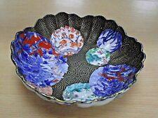 More details for beautiful antique japanese imari scalloped bowl