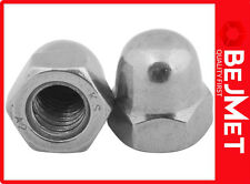 M 8 DIN 1587 A2 STAINLESS STEEL HEXAGON DOMED NUT DOME NUTS (SET 50-PIECES)