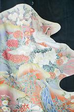 Vintage Japanese silk  Kimono  TOMESODE  from Japan 12-20