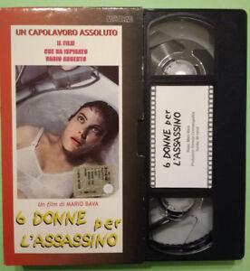 VHS Film Ita Thriller 6 DONNE PER L'ASSASSINO Mario Bava Nocturno no dvd (V149)