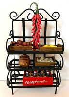 1:12 VINTAGE DOLLHOUSE MINIATURE FURNITURE KITCHEN RACK FILLED WITH ACCESSORIES