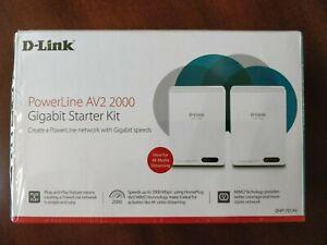 D-Link Powerline DHP-701AV AV2 2000 Gigabit Network Extender Kit