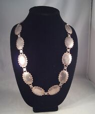 Vintage 1940's Native American 800 Silver Stamped Concho Necklace