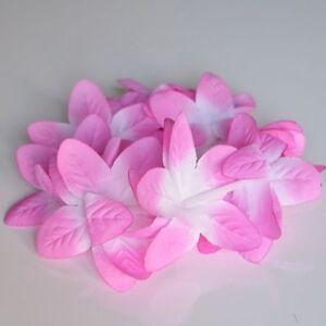 Set of 2 Hawaiian Orchid Crown Lei Flower Lei Pink Purple Red Orange Violet Luau
