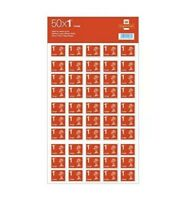 Royal Mail 1st Class Large Letter Postage Stamps - 50 Pieces