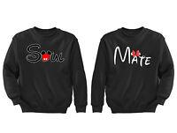 2 FOR 1 SALE: Soul Mate Matching Couple soft Black Unisex Sweatshirt S-6X