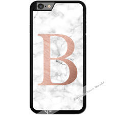 For iPhone 7 Case Cover PERSONALISED Initial White Marble Y01505