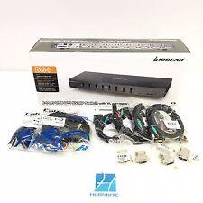 IOGEAR 8-Port DVI KVMP switch with VGA support and USB KV GCS1108