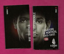 2011-12 MONTREAL CANADIENS POCKET SCHEDULE (PRICE + SUBBAN ) (INV# 7581)