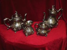 Ornate Victorian Style Sheffield Silverplate Service Set, 4 pc.