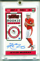 KYLER MURRAY 2019 Contenders Rookie Ticket Preview Green RC Auto Card SP 1/5 1/1