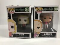 Lot Of 2 Rick And Morty Funko Pop Bundle Beth 301 & Summer 303