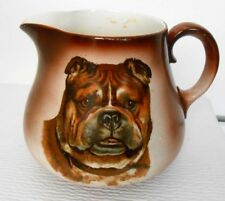 Antique Taylor Smith Pottery Circa 1908 Bull Mastiff Dog Pitcher Jug Carafe