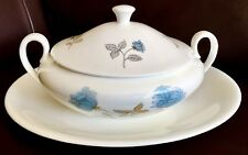 "Vintage Wedgwood Ice Rose 10""/25cm Tureen & Large 14""/35cm Matching Oval Charger"