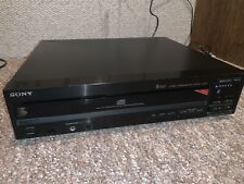 Sony 5 Disc CD Player Carousel CDP-C205 Tested No Remote