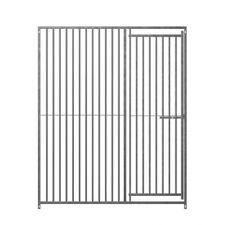 Galvanised Dog Run Panels by Doghealth 8cm Gap 1m Door Panel