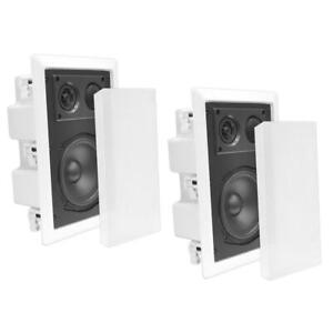 "Pyle PDIW87 8"" 400 Watt 2 Way Enclosed In Wall/Ceiling Flush Mount Speaker Pair"