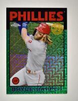 2021 Series 1 1986 Baseball Silver Chrome Green #86BC-20 Bryce Harper /99