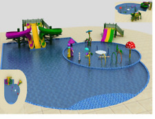12,500 sqft Commercial Splash Pad Spray Pool Water Park DIY Equipment We Finance