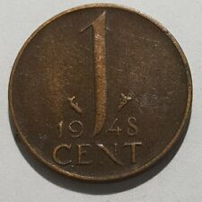 Old Coin 1948 Netherlands One Cent