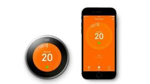 Certified Google: Nest 3rd Gen Learning Thermostat Kit Stainless Steel T3007ES E
