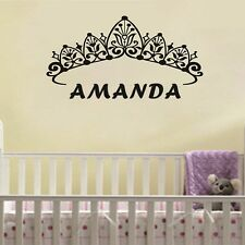 Custom Name Princess Crown Wall Stickers Wall Vinyl Decal Kids Girl Home Decor