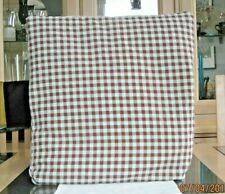 SHABBY CHIC BROWN AND WHITE GINGHAM DESIGN CUSHION COVERS