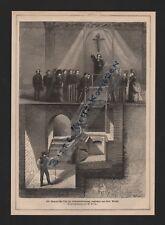 1874, Abbildung Grafik Der Siemens'sche Ofen für Leichenverbrennung