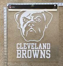 HUGE 18x19 Cleveland Browns Die-Cut Decal Car Truck Home Window Office Door New