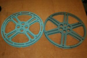 "Lot of 2 16mm Metal Film Reels 15"" 2000'  Taylor Mil Spec  Capco"
