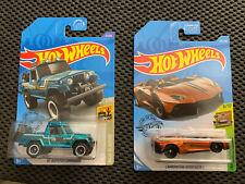 Hot Wheels '67 Jeepster Commando & Lamborghini Super Treasure Hunt Lot Of 2