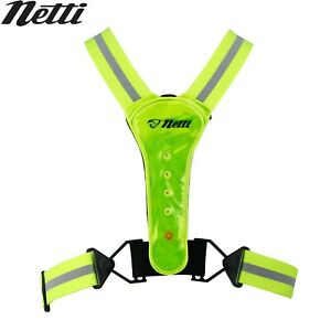Netti Reflective LED Light Safety Vest - High-Vis Yellow (One-Size)