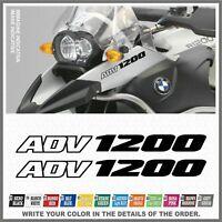 2x R1200 GS Adventure Black BMW Motorrad LC ADESIVI PEGATINA AUTOCOLLANT