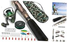 Carbon Fiber Telescopic Fishing Pole Rod and Reel Combos 1.8M/2.4M Sea Saltwater