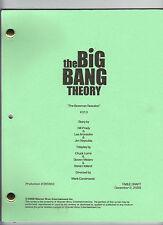 "THE BIG BANG THEORY script ""The Bozeman Reaction"""