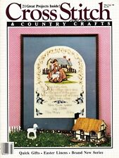 Cross Stitch & Country Crafts Mar Apr 1986 Cats Quilts Amish Golden Poppy