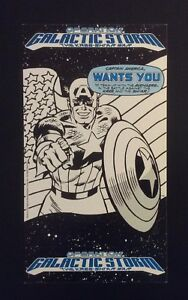 1991 Marvel Entertainment Large Comic Card Operation Galactic Storm Promo Print