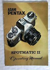 Asahi Pentax Spotmatic II Manual De Operación