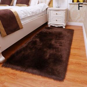 Plush Bedside Carpet Bedroom Living Room Bay Window Floor Mat Imitation Faux Fur