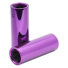 Snafu Hex 100mm Alloy Core Chromo Sleeve Pegs - Purple