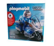 PLAYMOBIL 6876 Polizei Motorrad Streife mit Led-Blinklicht City Action