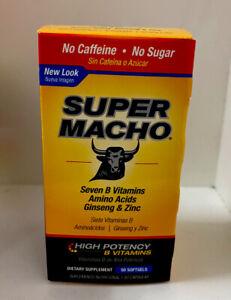 Super Macho Dietary Supplement 50 Softgels SuperMacho Vitaminas Capsulas