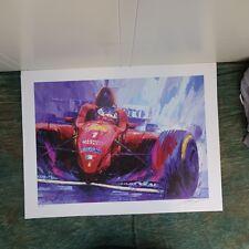 Ferrari Formula 1 Michael Schumacher Lithograph, 400 of 500, 1996, unframed