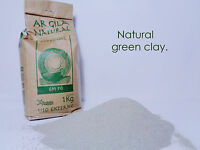 Organic FRENCH GREEN CLAY Powder Face skin Mask 1Kg 2.2LB