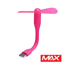 USB Portable Flexible Mini Fan Cooling Laptop Desktop PC Computer Power Bank