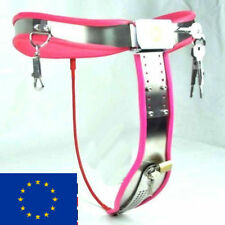 Full Female Chastity Belt/Device Stainless Steal  Heavy Duty PINK65 - 90 cms
