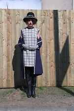 Kleid weiß gelb blau 60er True VINTAGE 60´s Damenmode women elegant dress