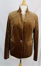 J.Crew $198 Women's Regent Blazer Velvet Dusty Cliff Brown 10 M Medium C9127