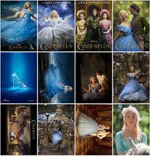 12pcs Cinderella Movie 2015 Mirror Surface Postcard Promo Card Poster DAJKK